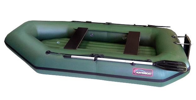 Надувная моторно-гребная лодка Хантер 280 ЛТН Зеленая