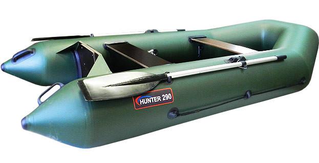 Надувная моторно-гребная лодка Хантер 290 Р Зеленая