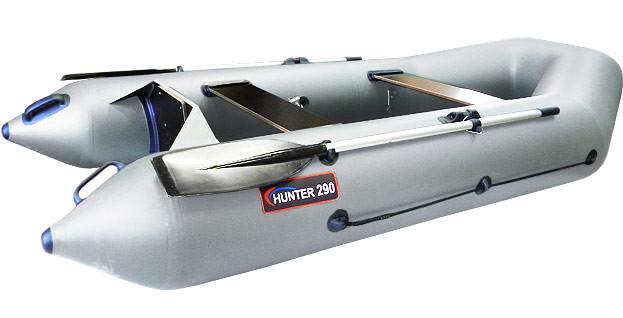Надувная моторно-гребная лодка Хантер 290 Р Серая