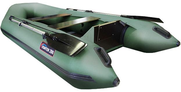 Надувная моторно-гребная лодка Хантер 290 Л Зеленая