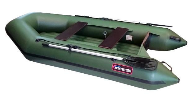 Надувная моторно-гребная лодка Хантер 290 ЛН Зеленый