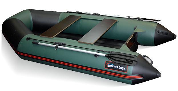 Килевая лодка Хантер 290 ЛКА Зеленая