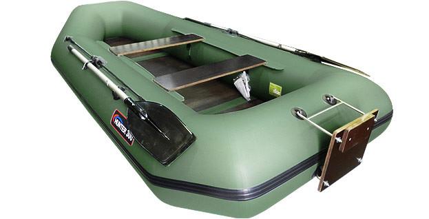 Моторная лодка Хантер 300 ЛТ Зеленая