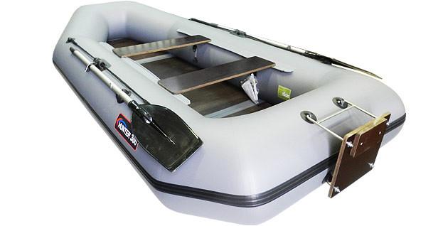 Надувная моторно-гребная лодка Хантер 300 ЛТ Серая