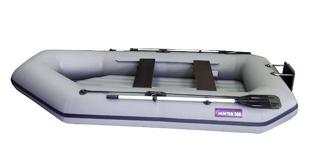 Надувная моторно-гребная лодка Хантер 300 ЛТН Серая