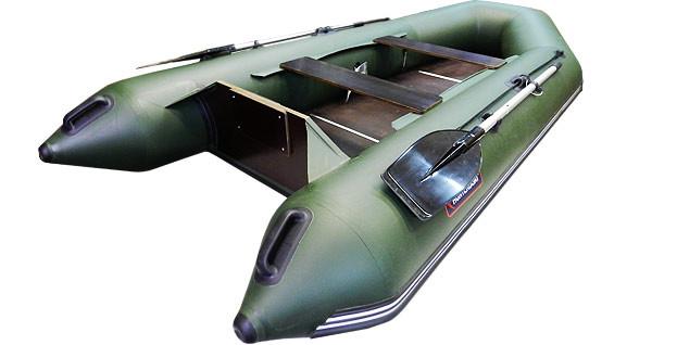 Надувная моторно-гребная лодка Хантер 320 Л Зеленая