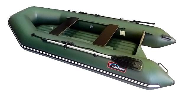 Надувная моторно-гребная лодка Хантер 320-ЛН Зеленая