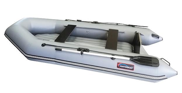 Надувная моторно-гребная лодка Хантер 320-ЛН Серая