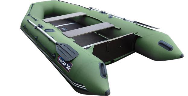 Килевая лодка Хантер 340 Зеленая