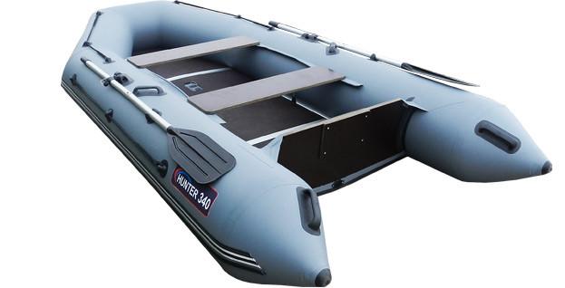 Килевая лодка Хантер 340 Серая