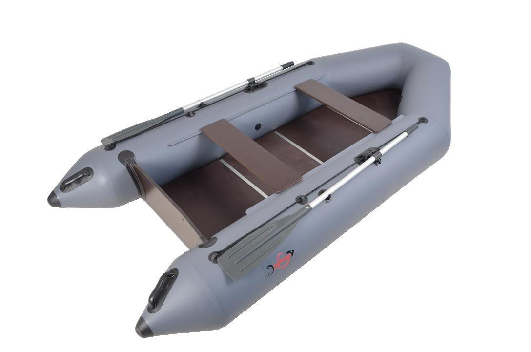 Надувная гребная лодка под мотор Арчер-310+ Серый