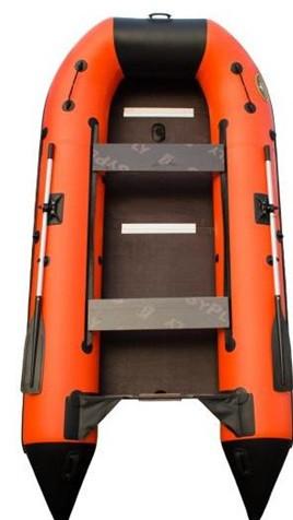 Моторная лодка Helios Пилигрим 360 Оранжевая/черная