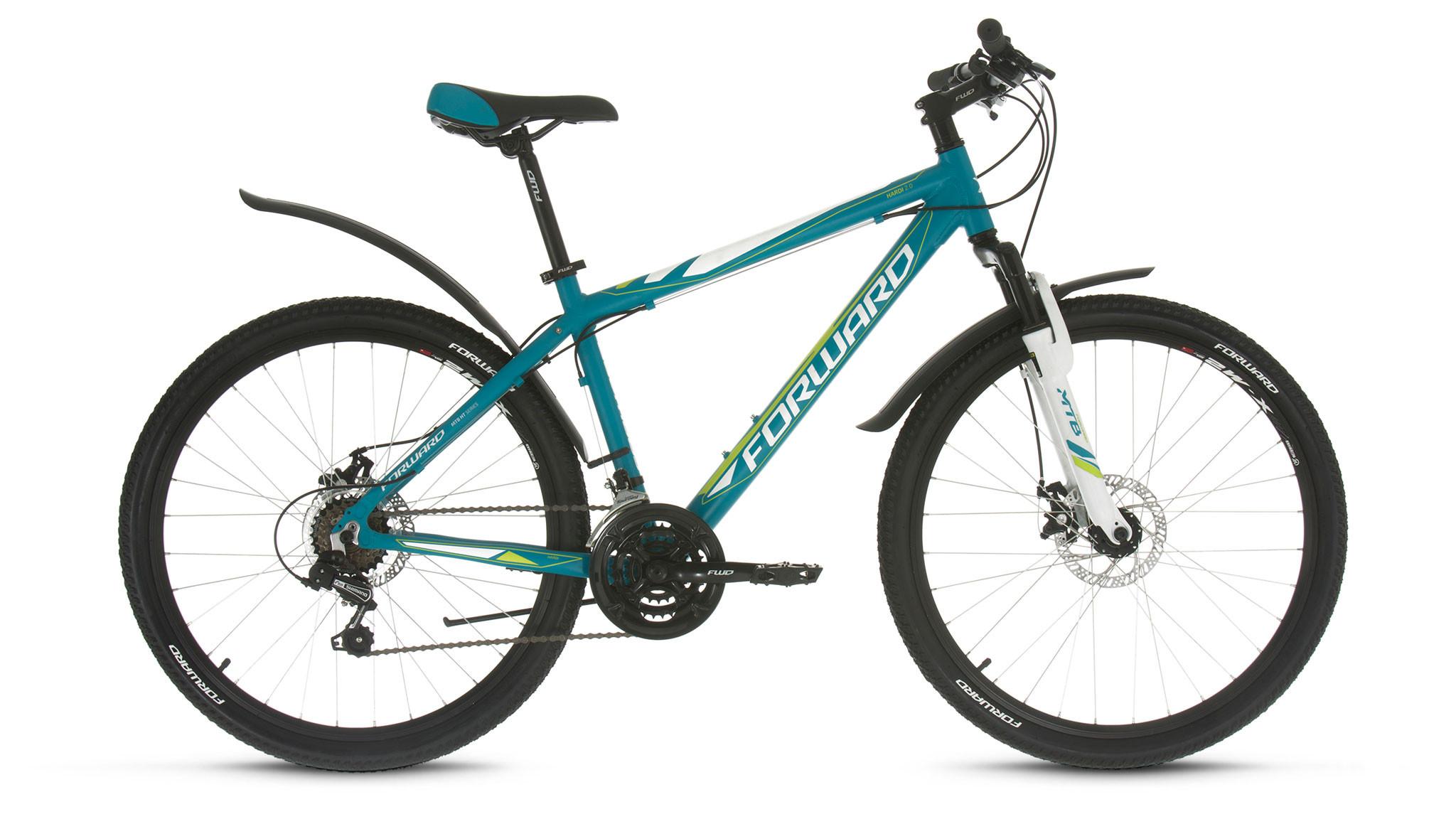 """Горный велосипед Forward Hardi 2.0 Disc 2017 рама 17"""" бирюзовый матовый"""