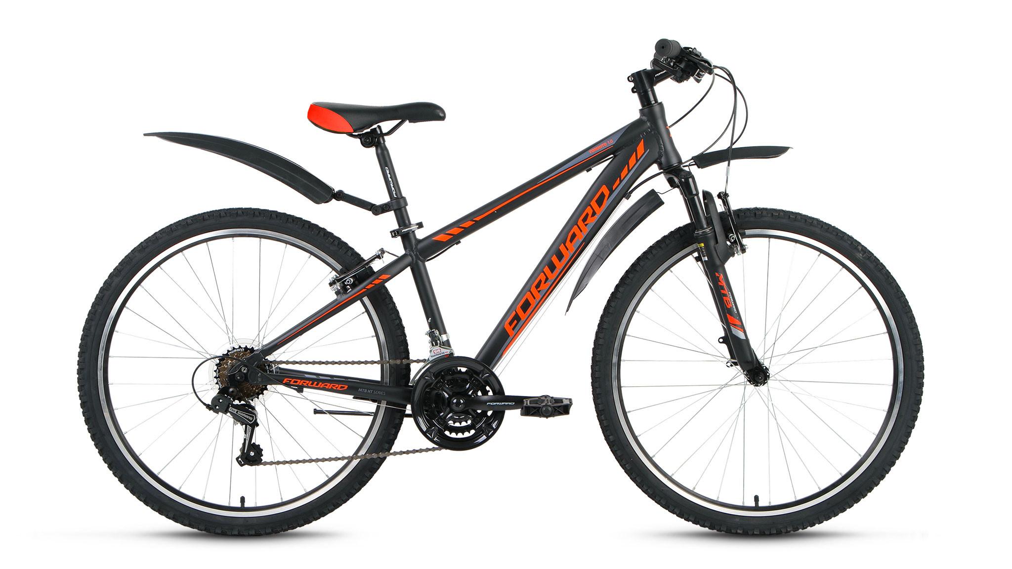 """Горный велосипед Forward Toronto 1.0 2018 рама 14"""" черный матовый"""