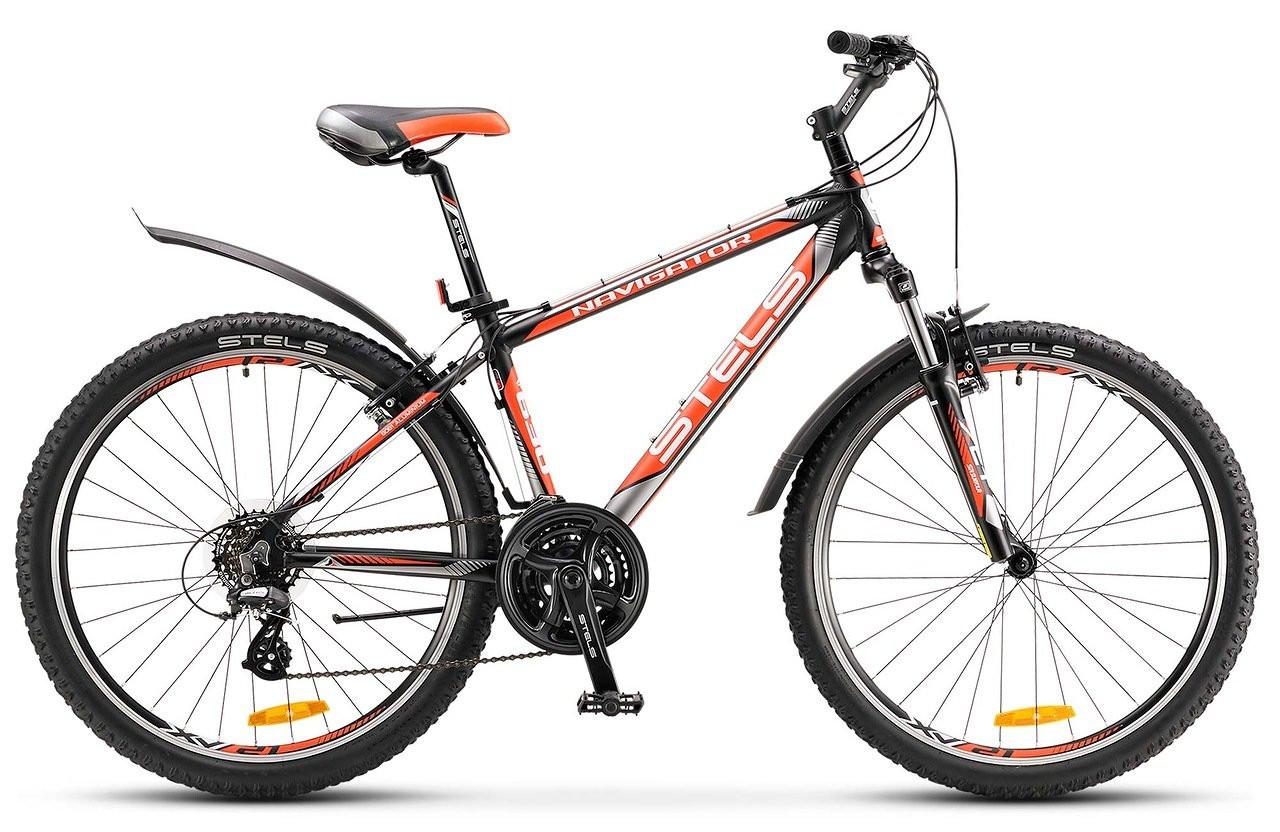 """Горный велосипед Stels Navigator-630V 2017 V020 рама 18"""" черный"""