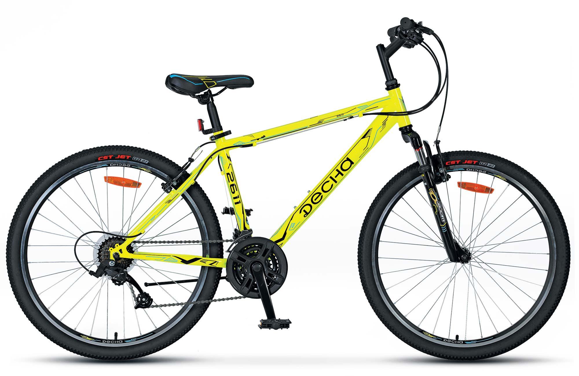 "Горный велосипед Десна-2611 V 2018 рама 19"" желтый"
