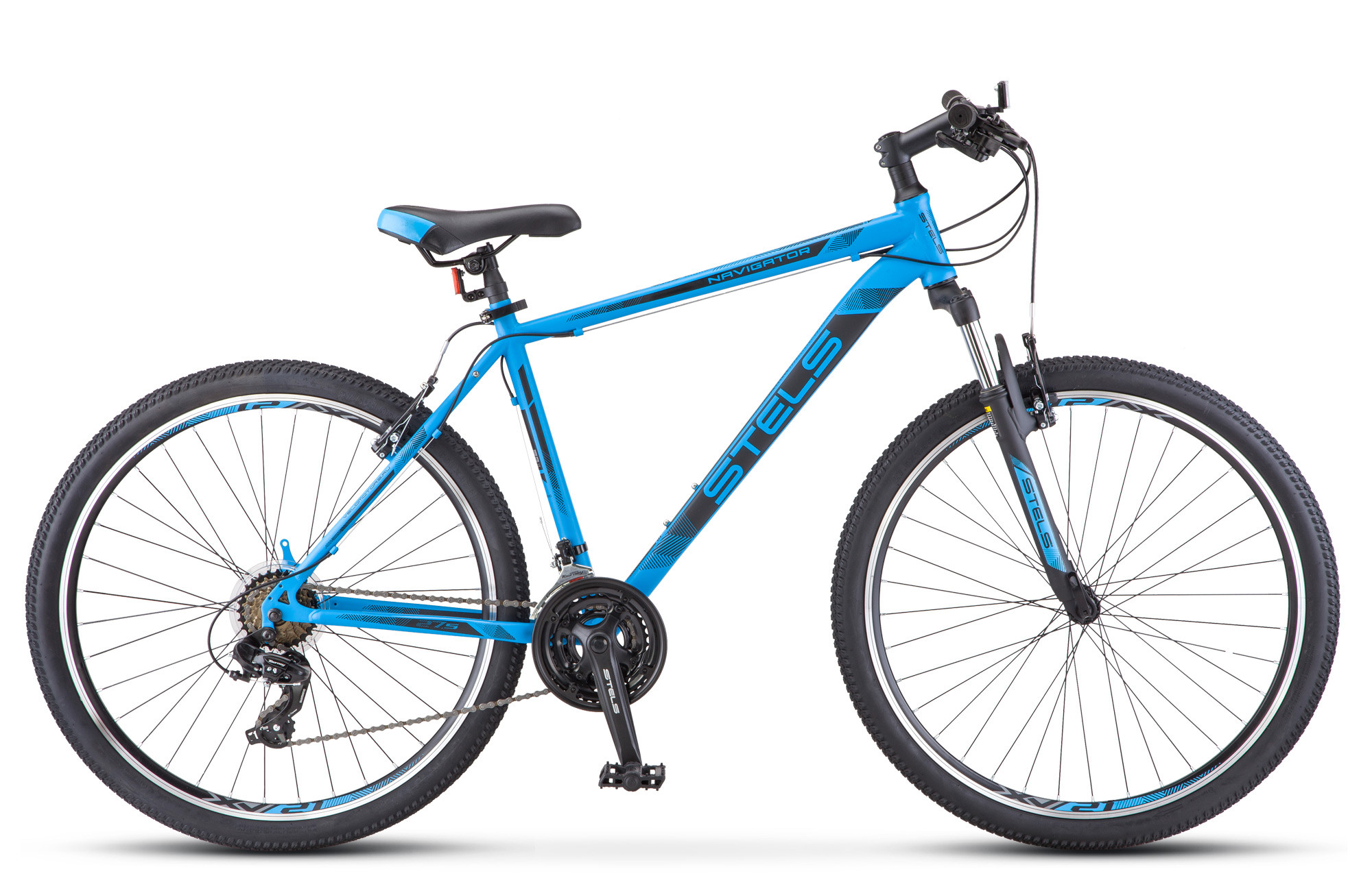 """Горный велосипед Stels Navigator-700V 2018 V010 рама 17,5"""" синий"""