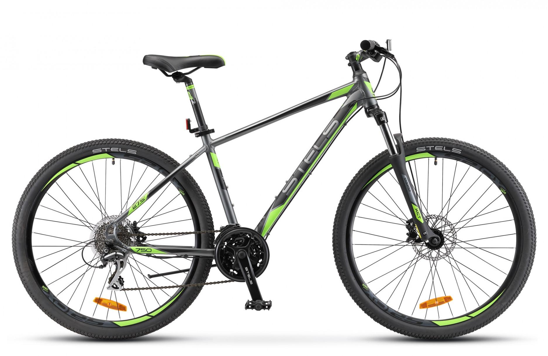 """Горный велосипед Stels Navigator-750D 2018 V010 рама 19"""" серый"""