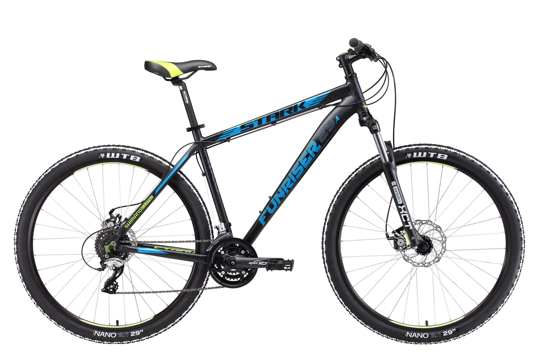 """Горный велосипед Stark Funriser 29.4 D 2017 рама 18"""" черный/синий"""
