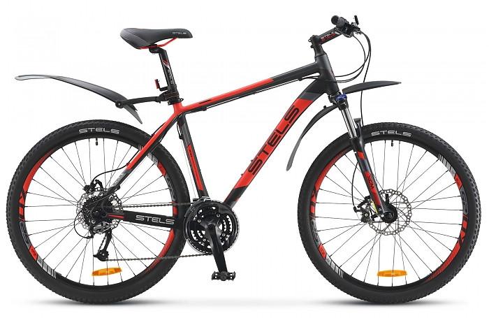 """Горный велосипед Stels Navigator-910MD 2016 рама 19,5"""" красный/черный/серый"""
