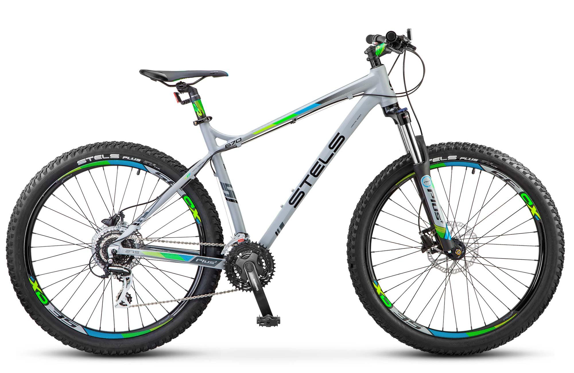 """Горный велосипед Stels Navigator-670D 2017 V020 рама 18"""" серый"""