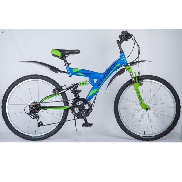 """Двухподвесный велосипед Stinger Banzai 2018 рама 16"""" синий"""