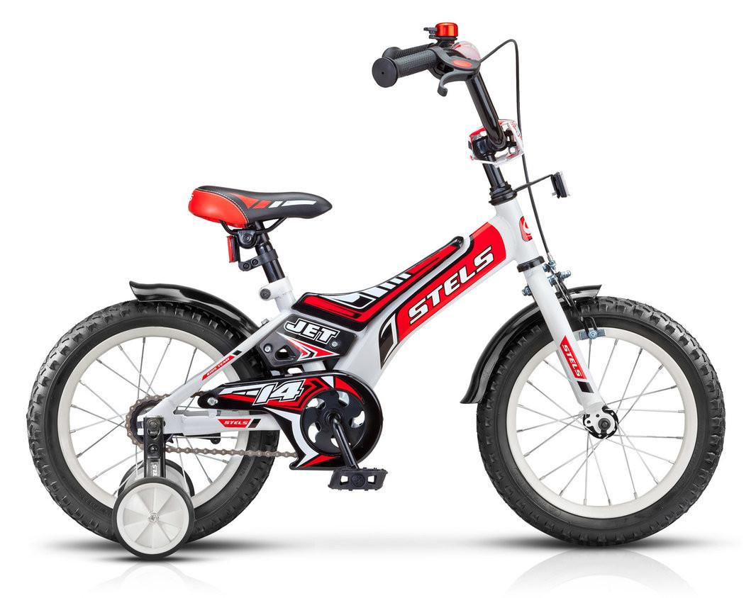 """Детский велосипед Stels Jet 2017 Z010 14"""" белый/красный"""