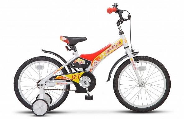 """Детский велосипед Stels Jet 2018 Z010 18"""" белый/красный"""