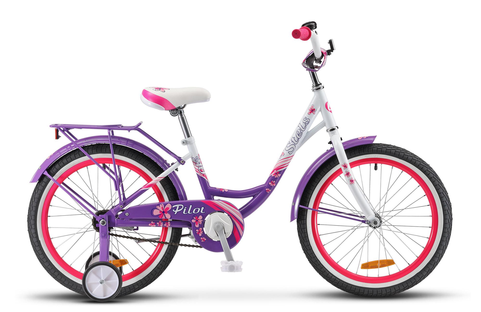 """Детский велосипед Stels Pilot-210 Lady 2018 V010 20"""" пурпурный/белый"""