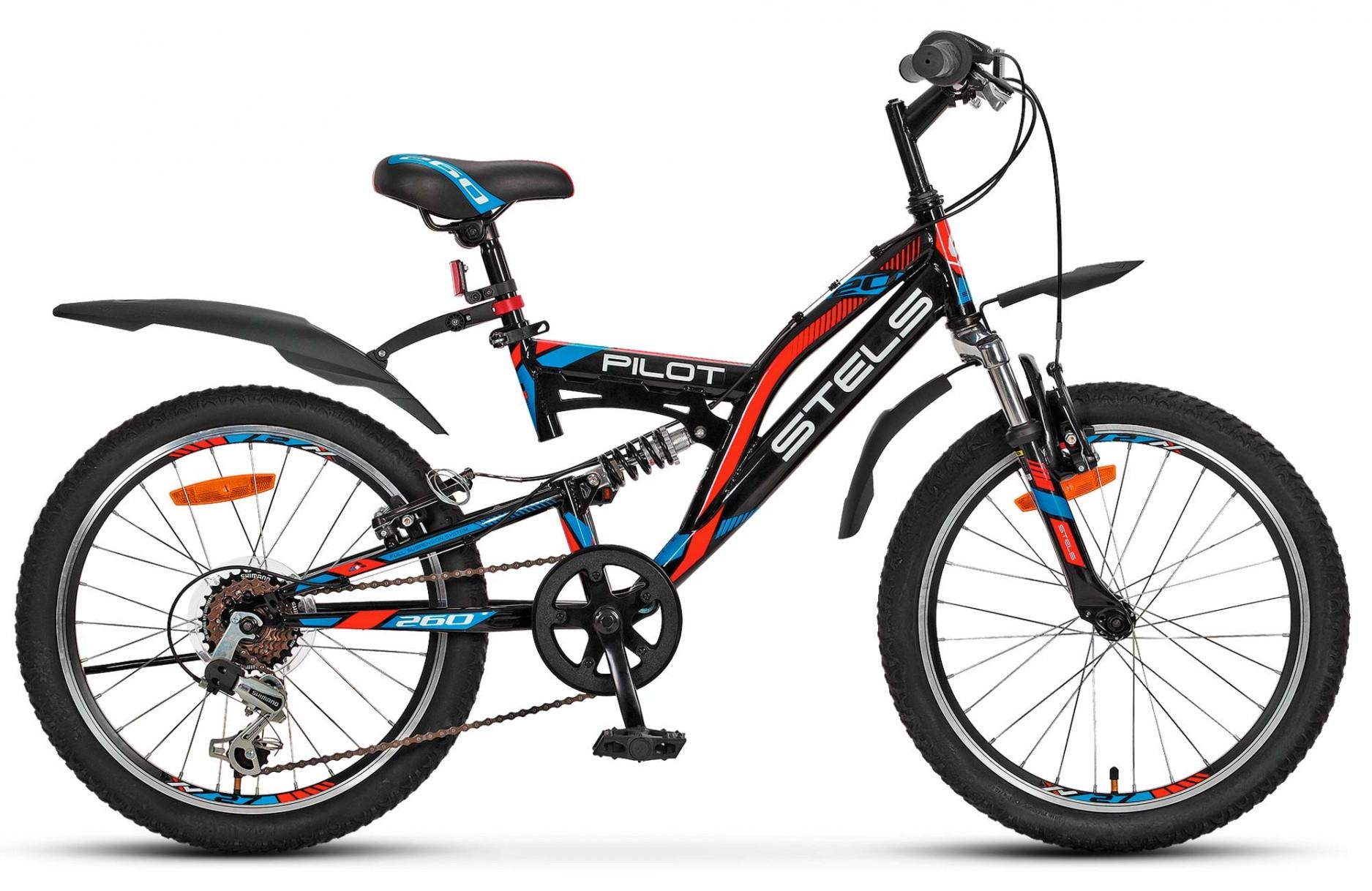 """Детский велосипед Stels Pilot-260 2017 20"""" черный"""