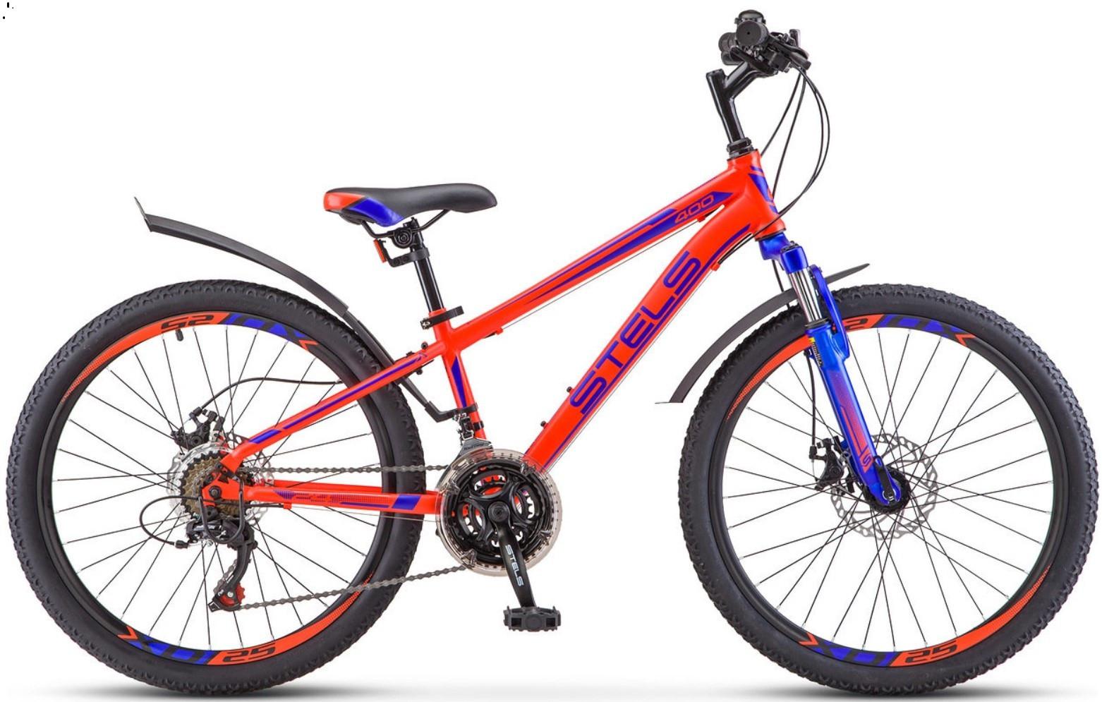 """Детский велосипед Stels Navigator-400MD 2018 24"""" неоновый красный"""