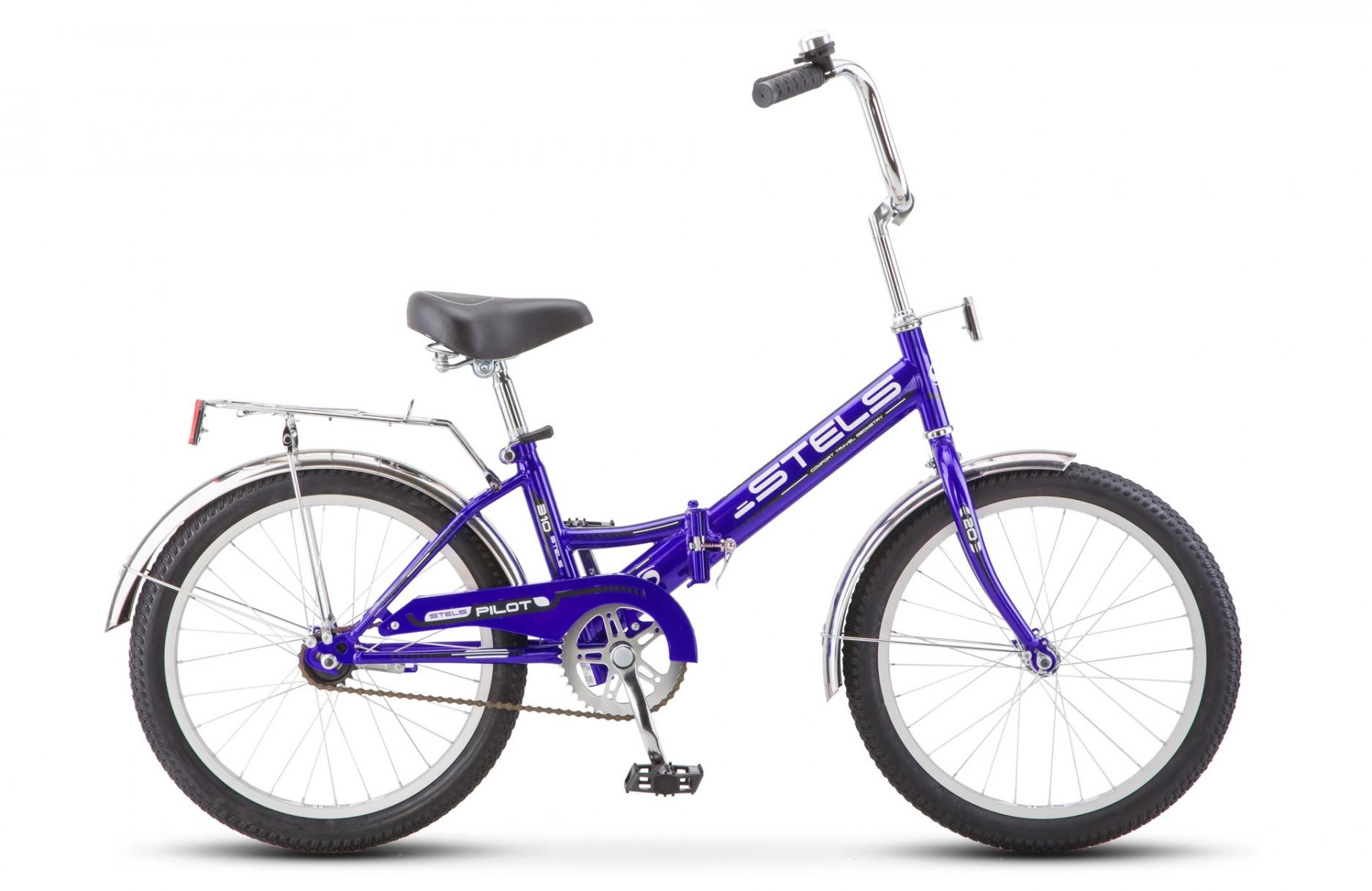 Складной велосипед Stels Pilot-310 2018 Z011 синий/черный