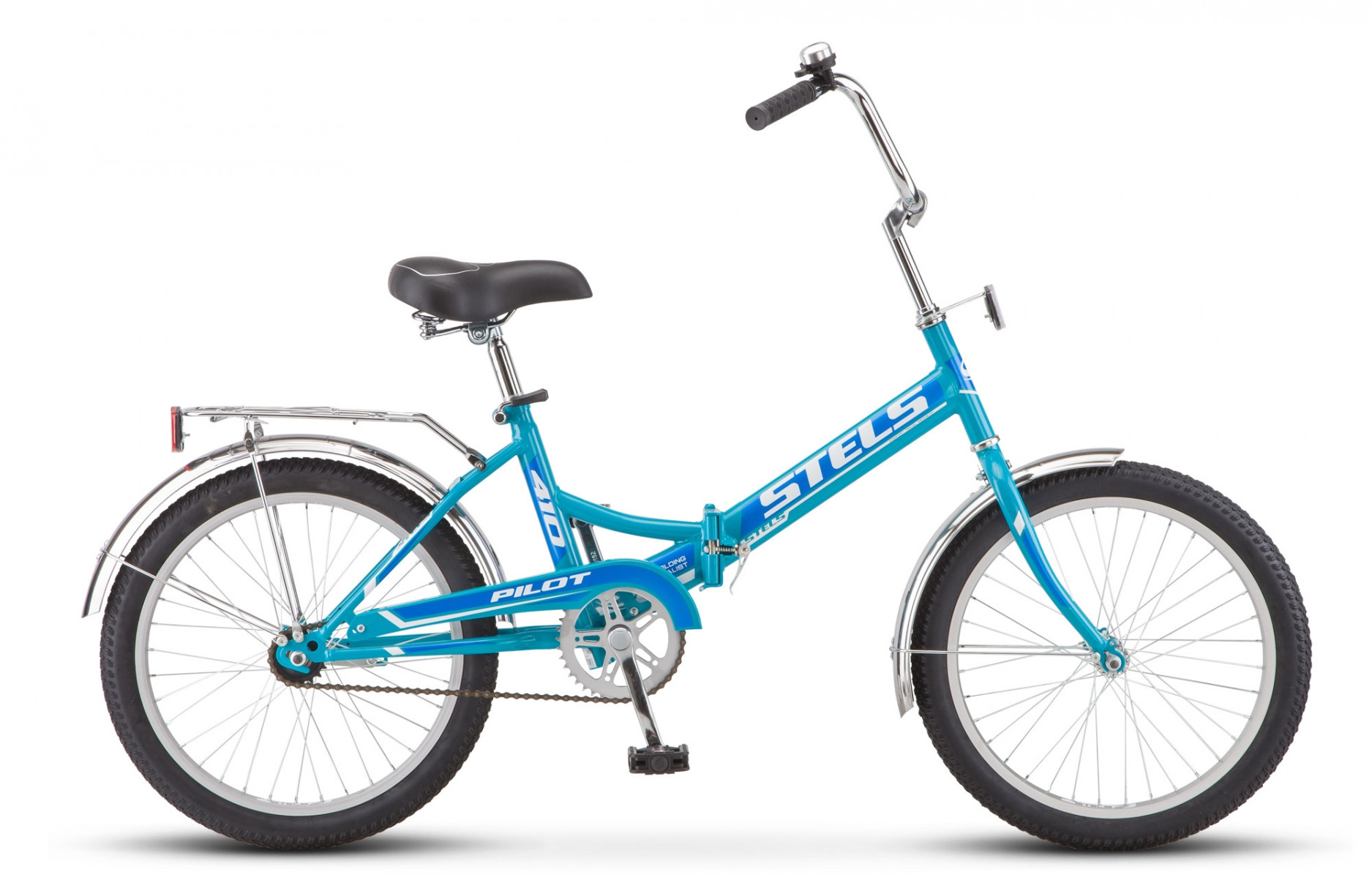 Складной велосипед Stels Pilot-410 2018 Z011 бирюзовый/синий