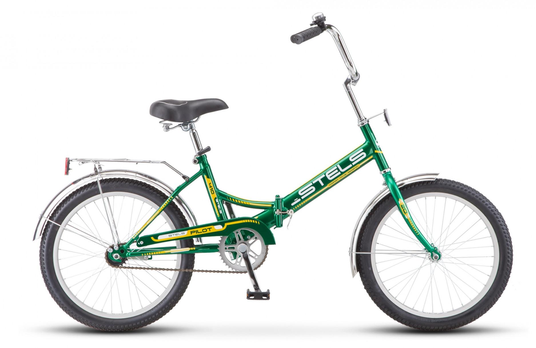 Складной велосипед Stels Pilot-410 2018 Z011 зеленый/желтый