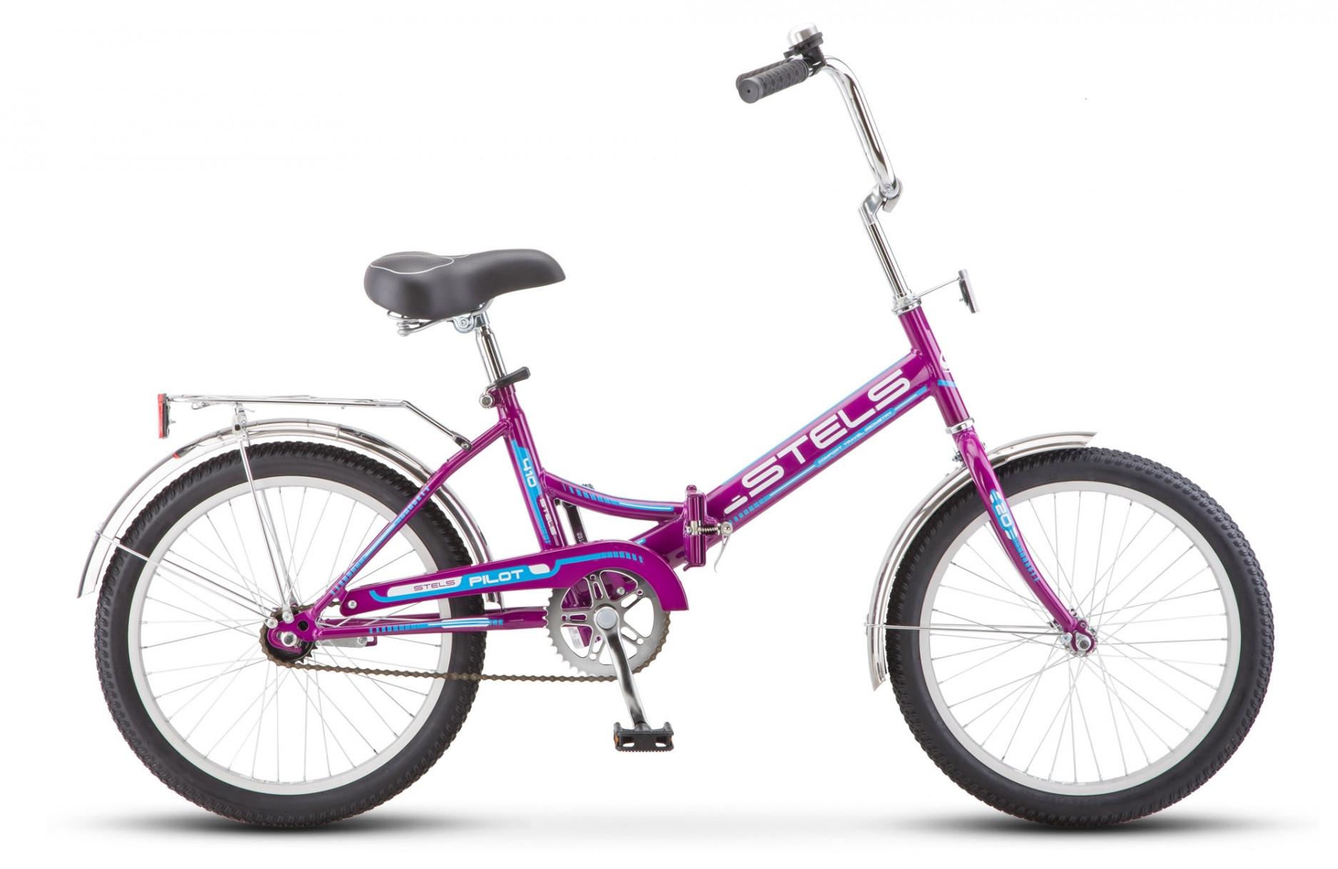 Складной велосипед Stels Pilot-410 2018 Z011 фиолетовый
