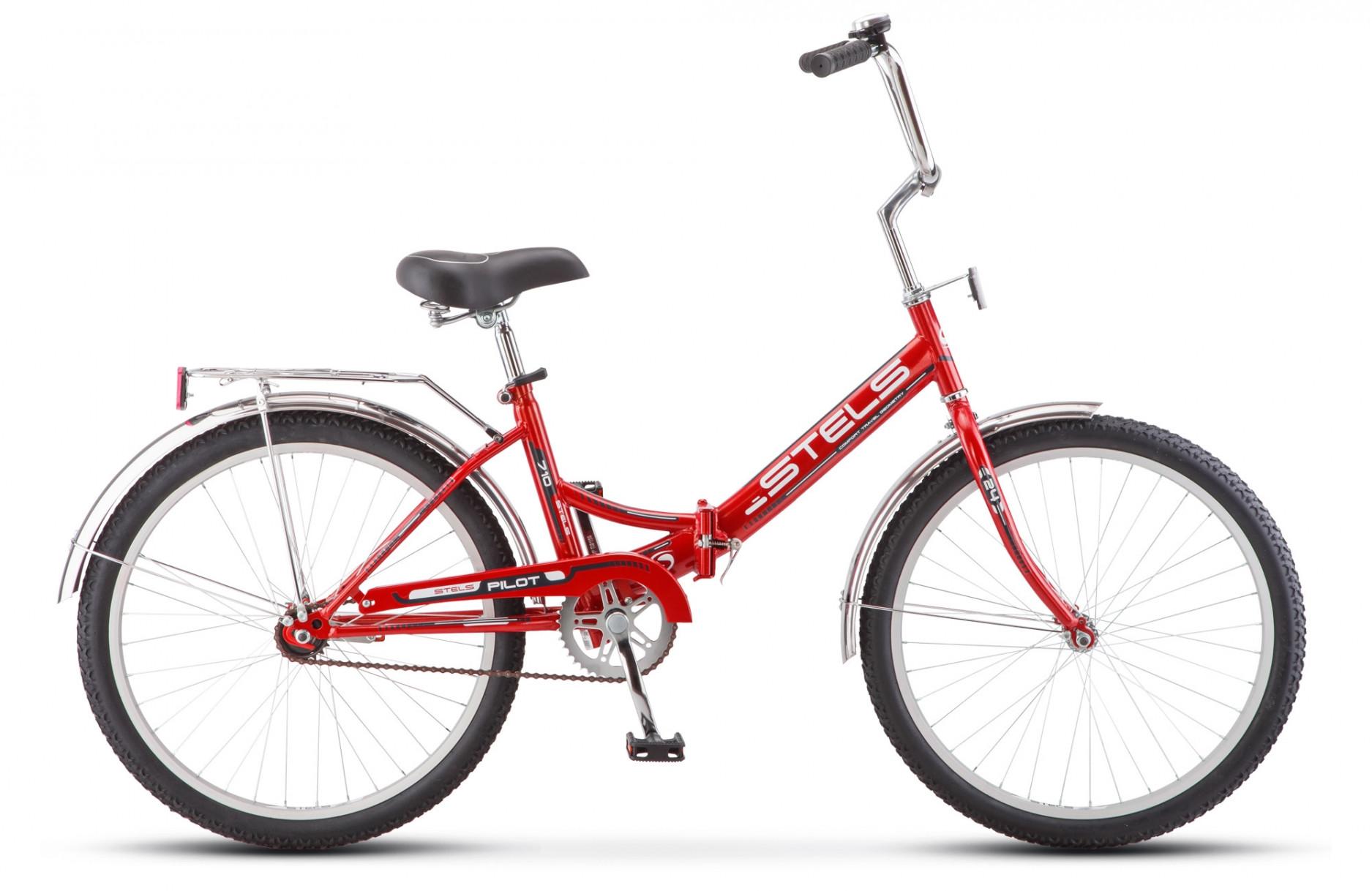 Складной велосипед Stels Pilot-710 2018 Z010 красный/черный