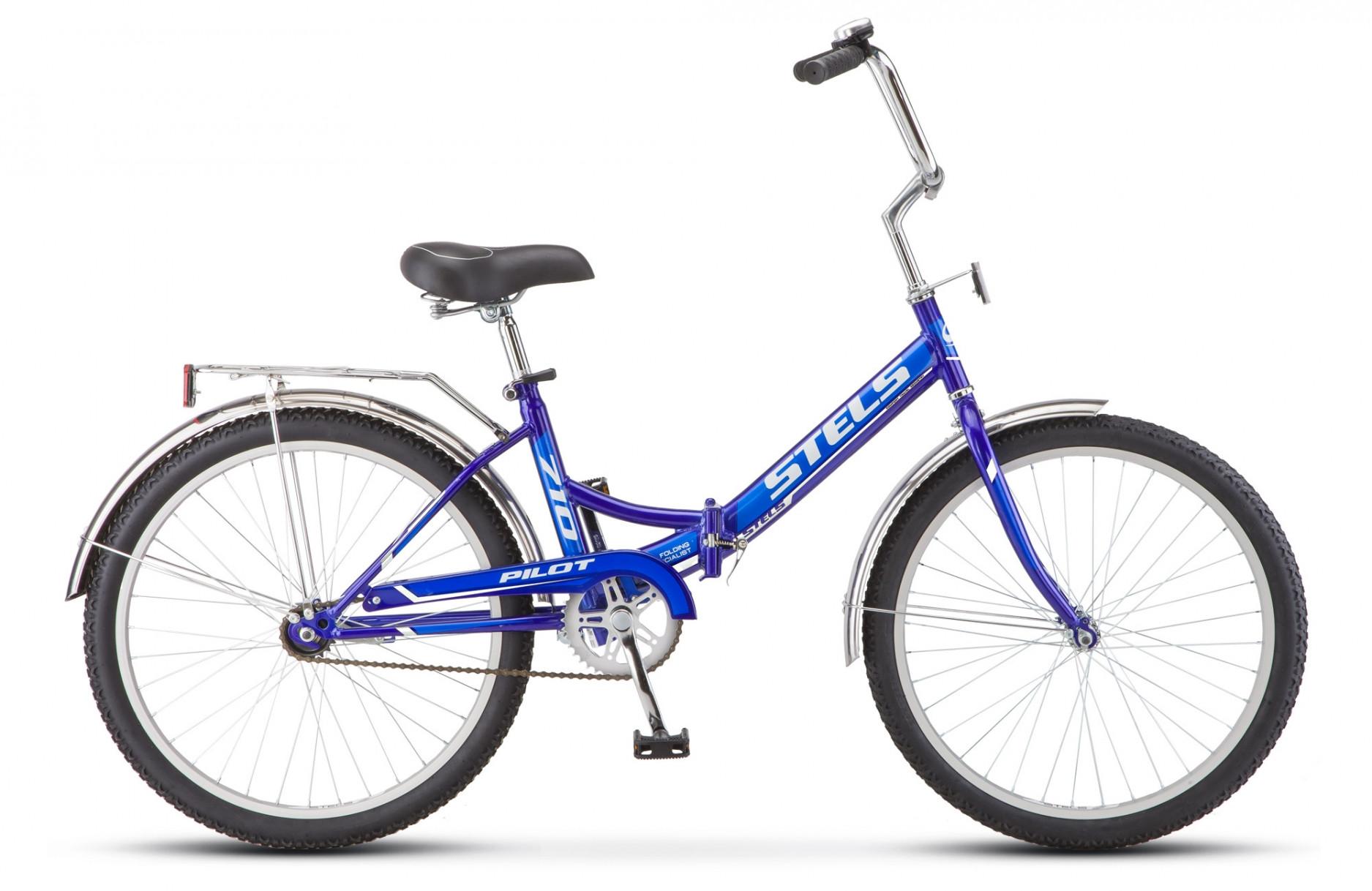 Складной велосипед Stels Pilot-710 2018 Z010 синий