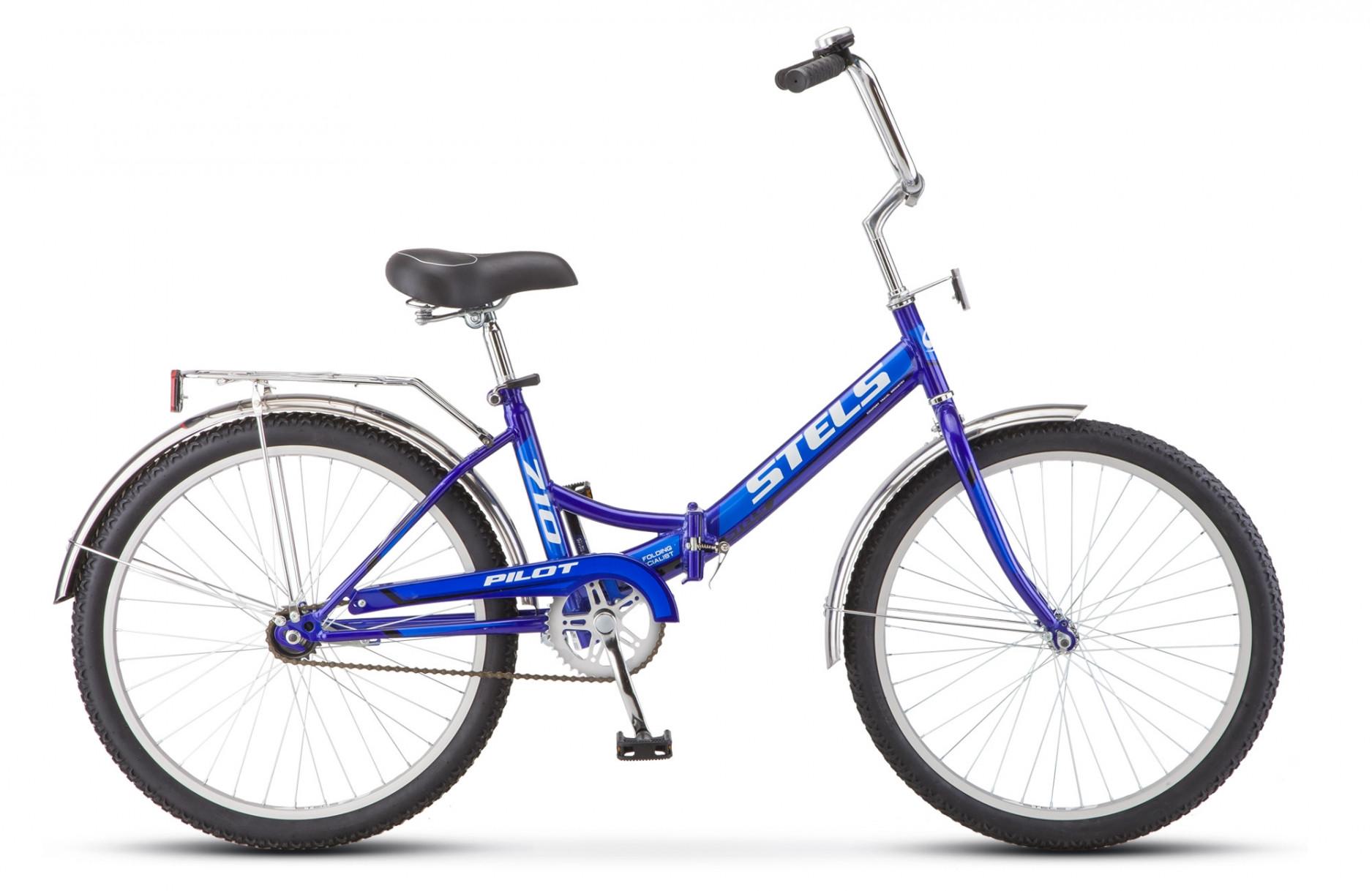 Складной велосипед Stels Pilot-710 2018 Z010 синий/синий
