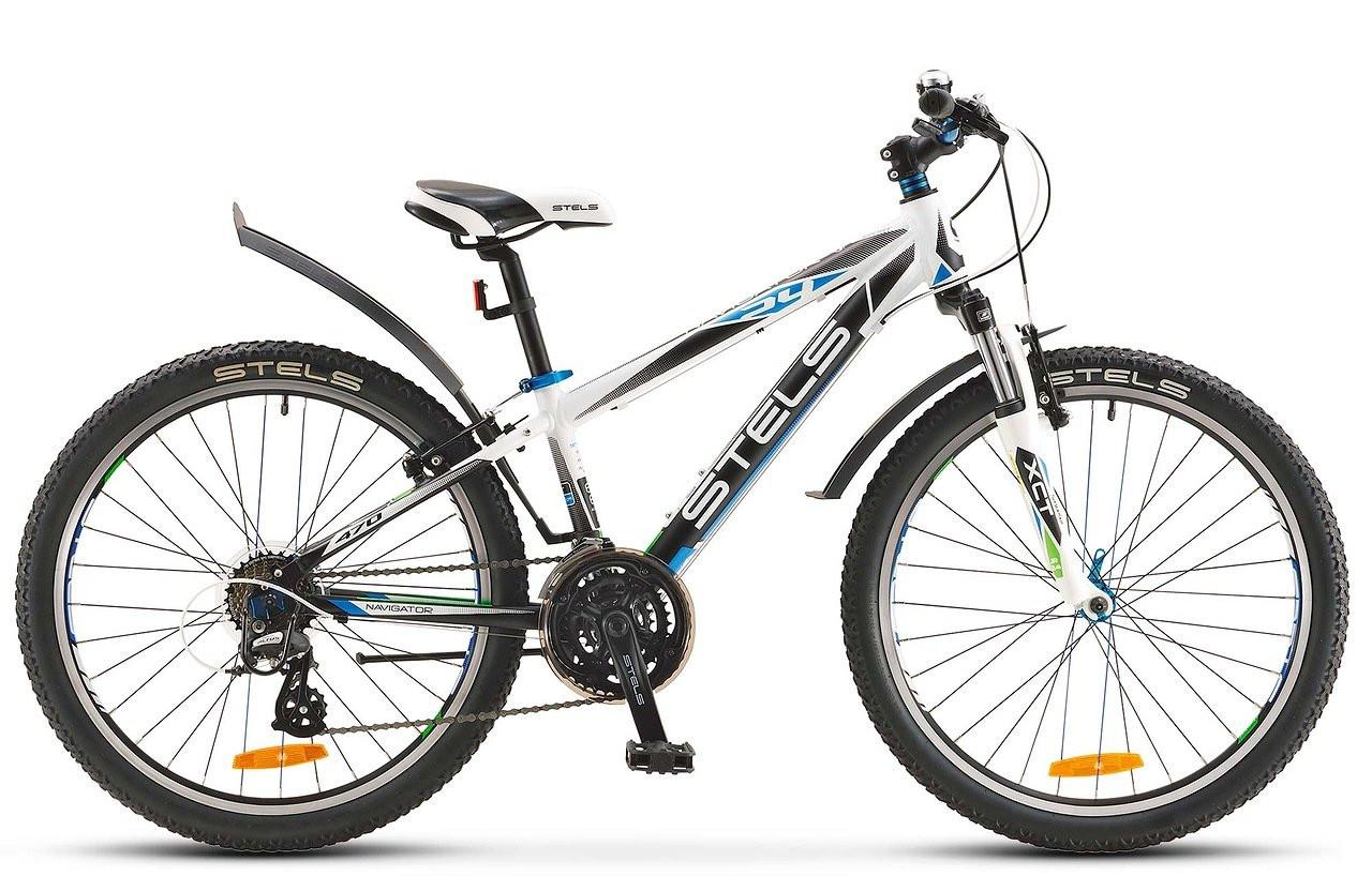 Детский велосипед Stels Navigator-470V 2016 белый/черный/синий