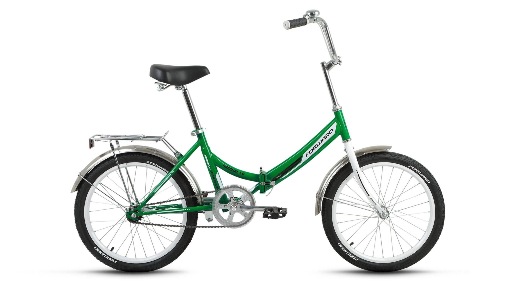 """Складной велосипед Forward Arsenal 1.0 2018 20"""" зеленый"""
