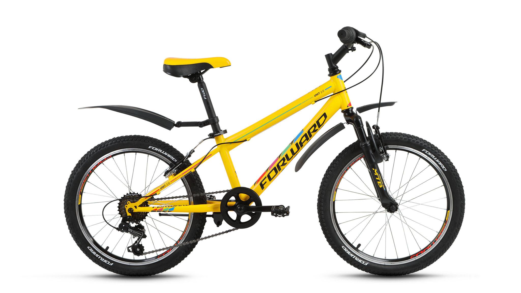 Детский велосипед Forward Unit 2.0 2017 желтый матовый