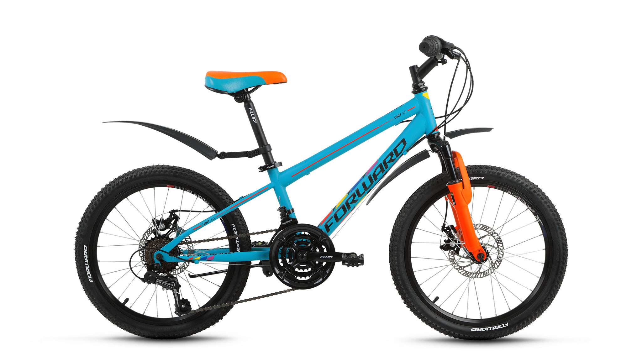 Детский велосипед Forward Unit 3.0 Disc 2018 бирюзовый матовый