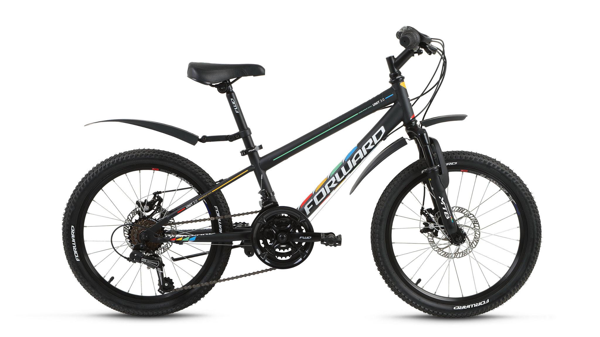 Детский велосипед Forward Unit 3.0 Disc 2018 черный матовый