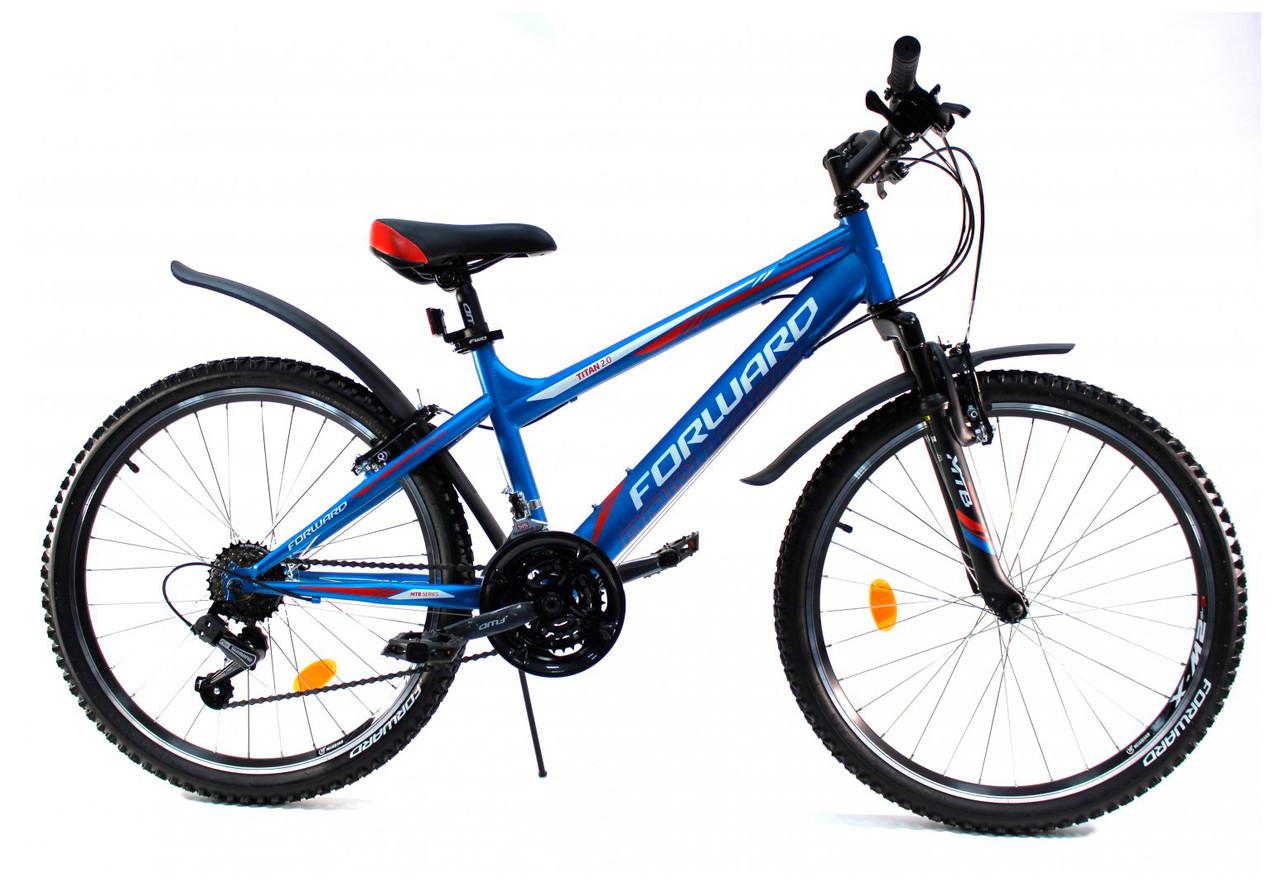 Детский велосипед Forward Titan 2.1 2018 синий матовый
