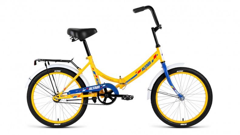 """Складной велосипед Altair City 2018 20"""" желтый/синий"""