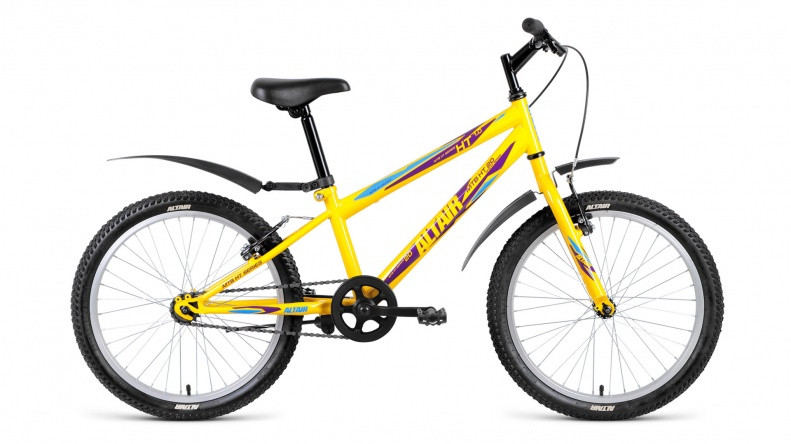 Детский велосипед Altair MTB HT 1.0 2018 желтый