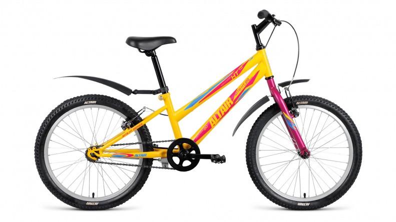 Детский велосипед Altair MTB HT 1.0 Lady 2018 желтый матовый