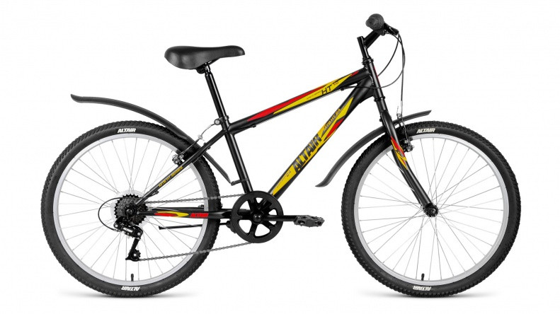Детский велосипед Altair MTB HT 1.0 2018 черный матовый