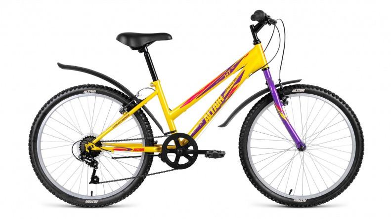 Детский велосипед Altair MTB HT 1.0 Lady 2018 желтый