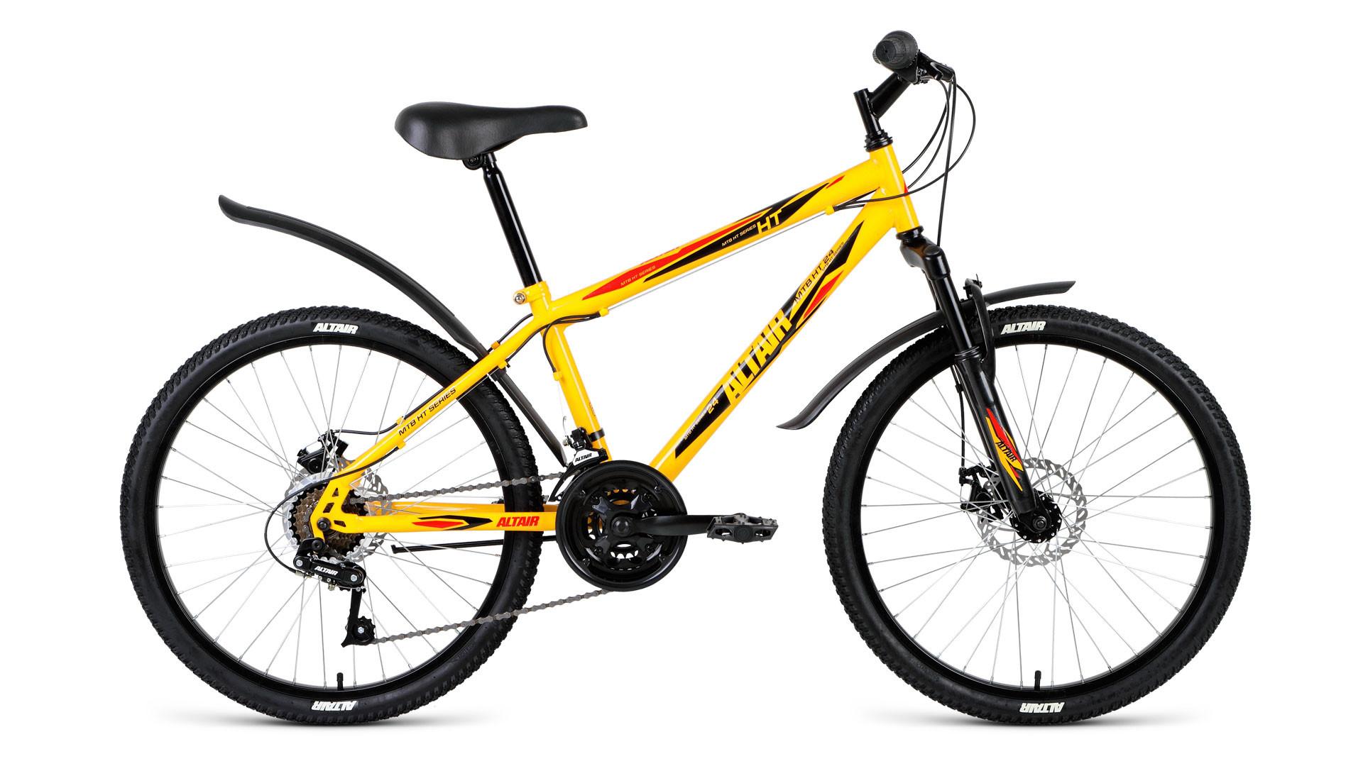 Детский велосипед Altair MTB HT 3.0 disc 2018 желтый
